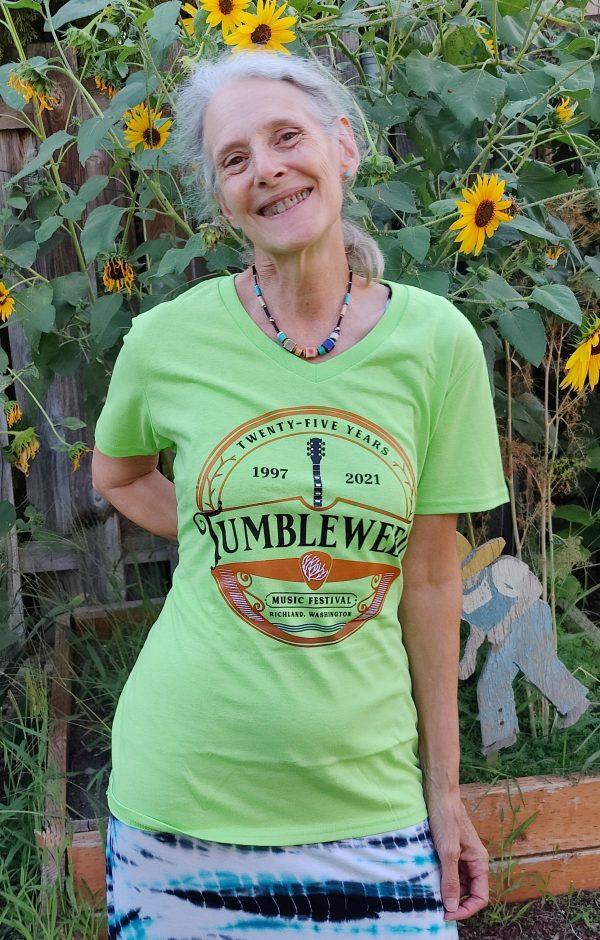 Womens Cut Green T-Shirt